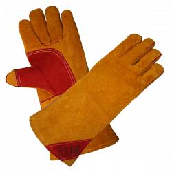Краги пятипалые «сибирь» особо прочные с подкладкой (желтые)