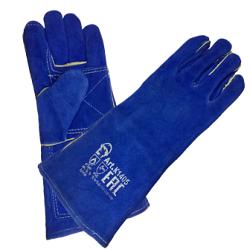 Краги пятипалые с подкладкой (синие) «сапфир»