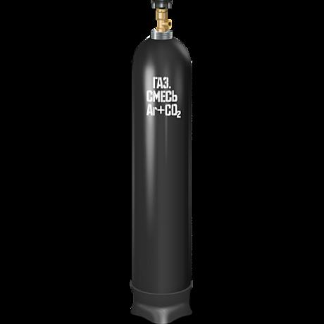 Баллон сварочная смесь 40л б/у аттест.